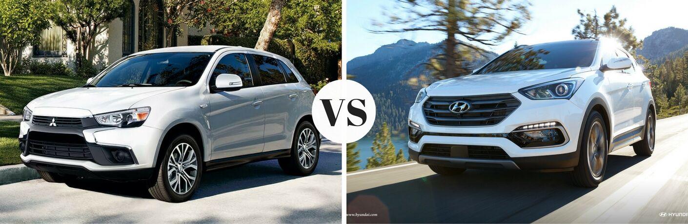 2017 Mitsubishi Outlander Sport vs 2017 Hyundai Santa Fe Sport