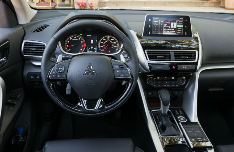 view of the driver's seat in the 2018 Mitsubishi Eclipse Cross