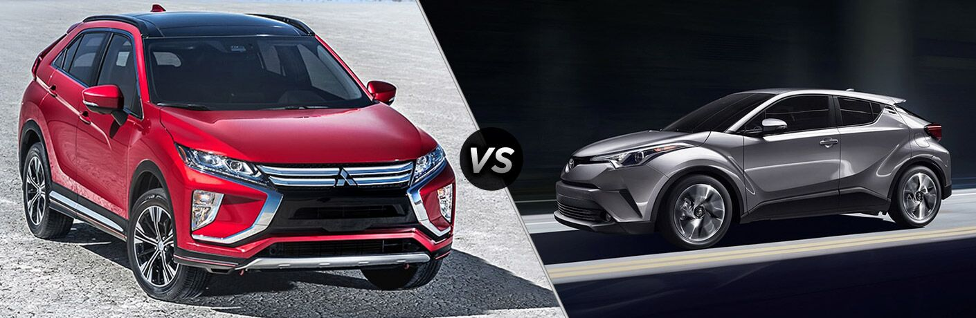 2019 Mitsubishi Eclipse Cross vs 2019 Toyota C-HR comparison image