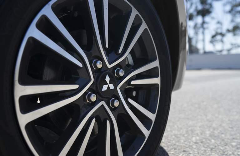 Close up of the 2018 Mitsubishi Mirage wheel