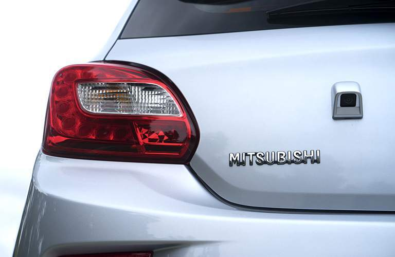 Close up of the 2018 Mitsubishi Mirage taillight