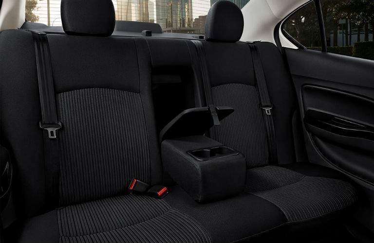 second row seat with armrest divider inside the 2018 Mitsubishi Mirage G4