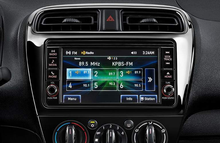 infotainment system inside the 2018 Mitsubishi Mirage G4