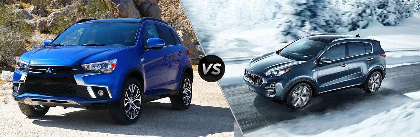 2018 Mitsubishi Outlander Sport vs 2018 Kia Sportage