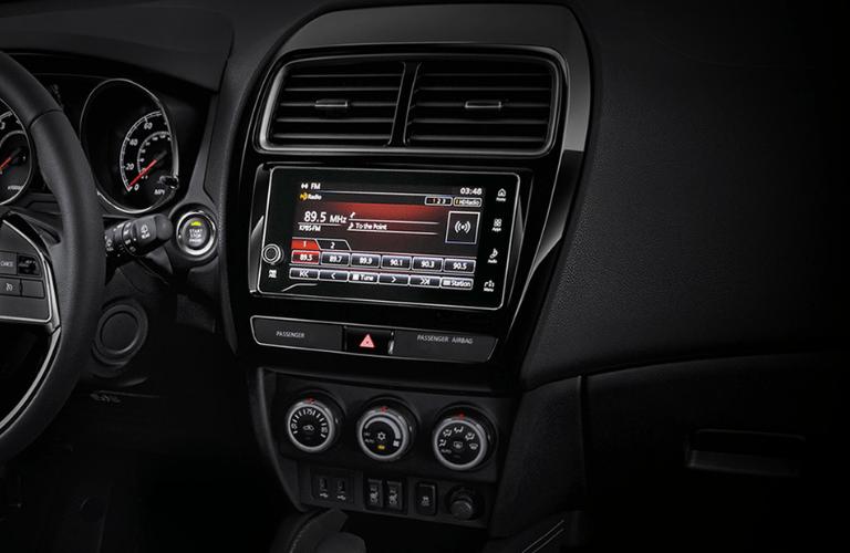 2019 Mitsubishi Outlander Sport interior front radio