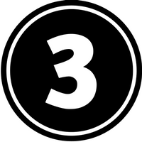 circular image with the number three in the center