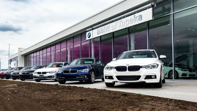 BMW front area of the New BMW and Volkswagen of Topeka
