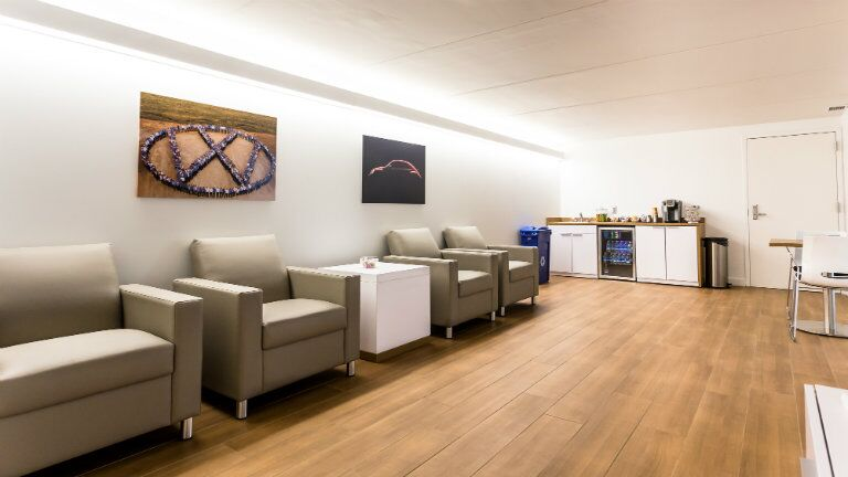 Volkswagen customer waiting area at the New BMW and Volkswagen of Topeka