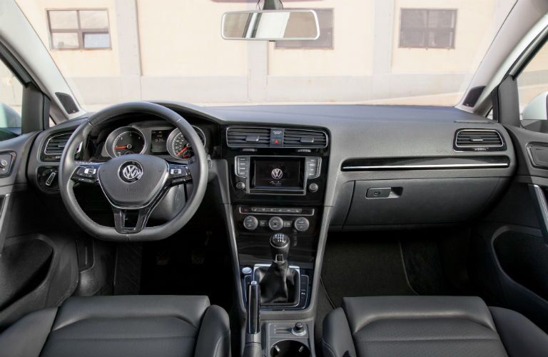 2015 Volkswagen Golf TDI Interior front cabin steering wheel and dashboard