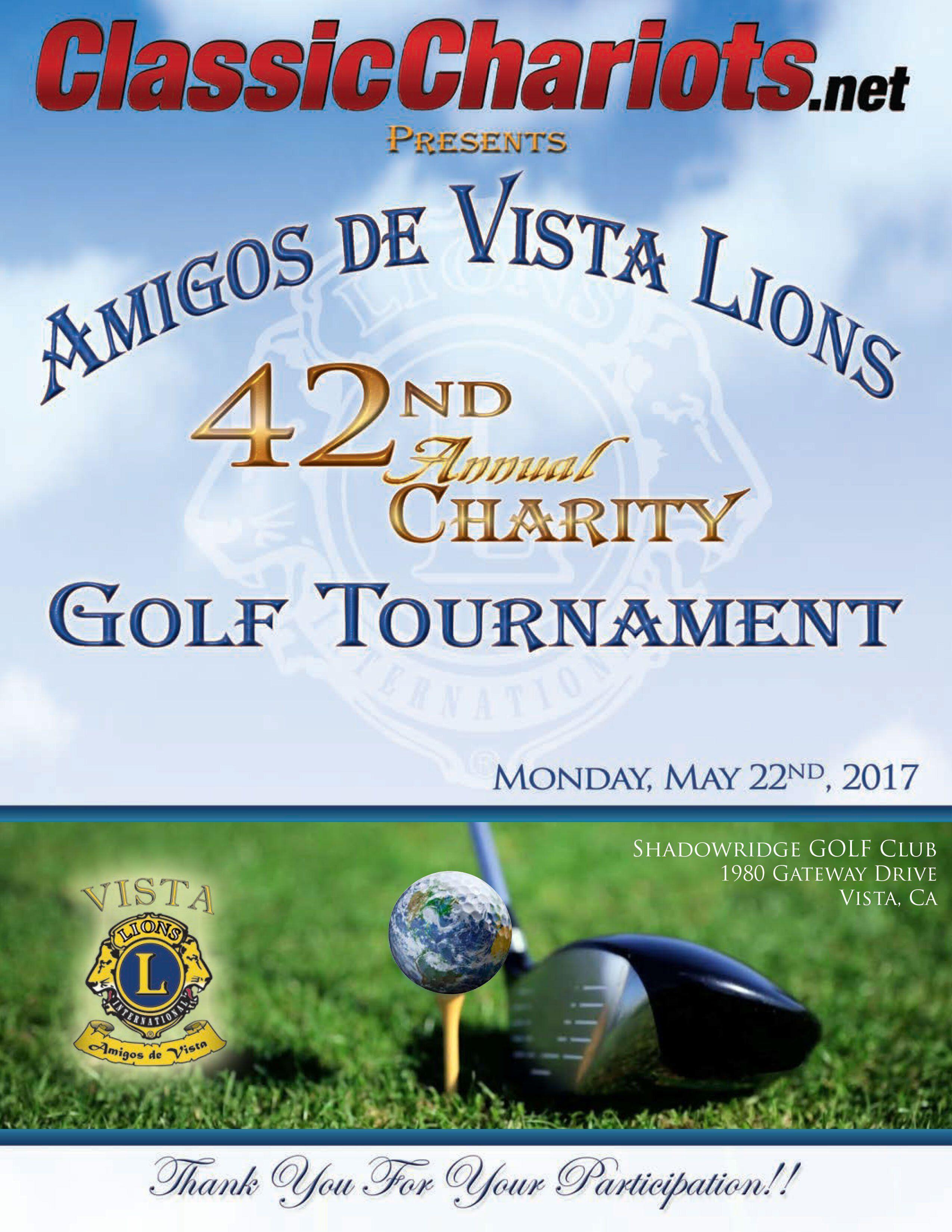 42nd Annual Charity Golf Tournament, Shadowridge Gold Club