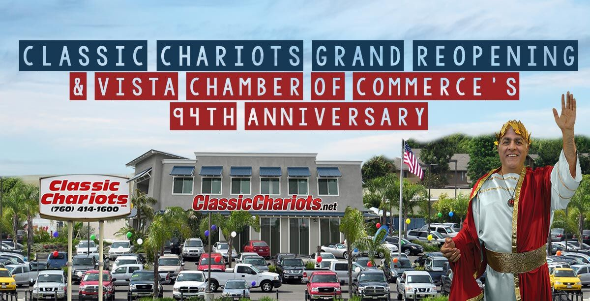 SClassic Chariots Grand Reopening and Vista Chamber of Commerce's 94th Anniversary