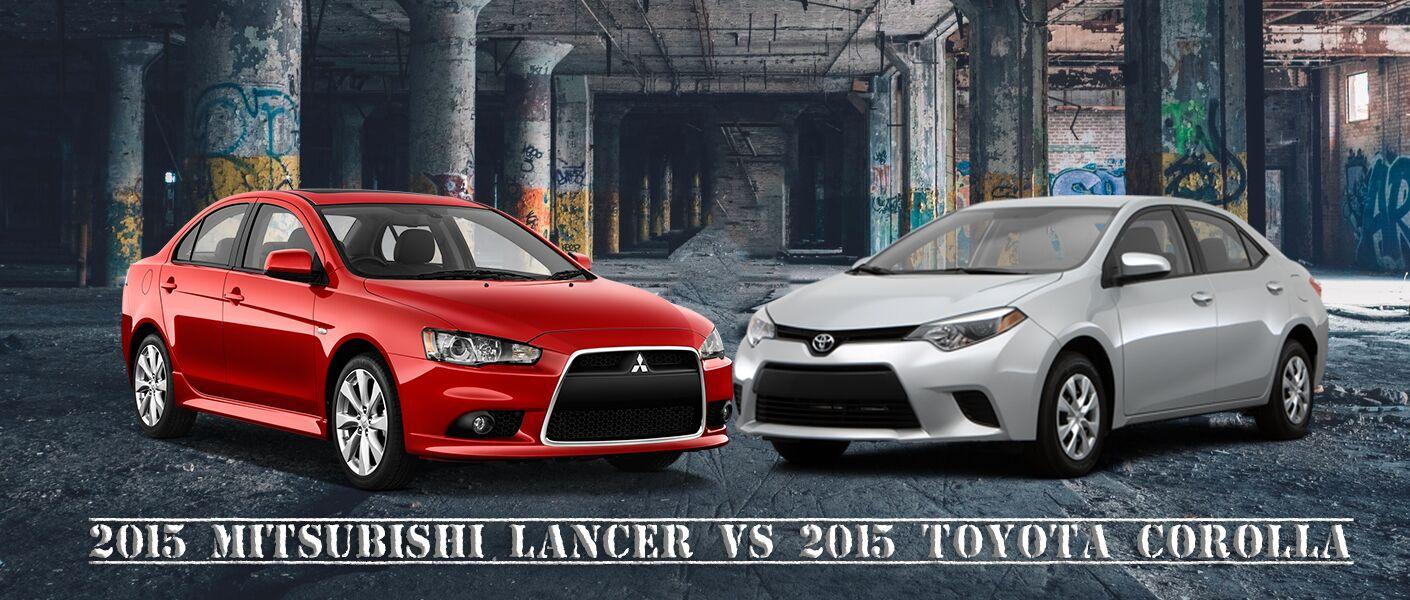 2015 Mitsubishi Lancer vs 2015 Toyota Corolla