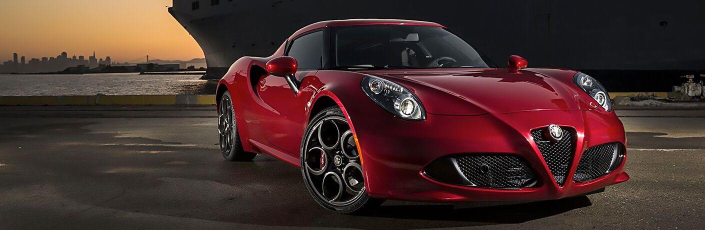 red 2018 Alfa Romeo 4C parked