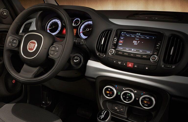 2017 Fiat 500L Black Interior