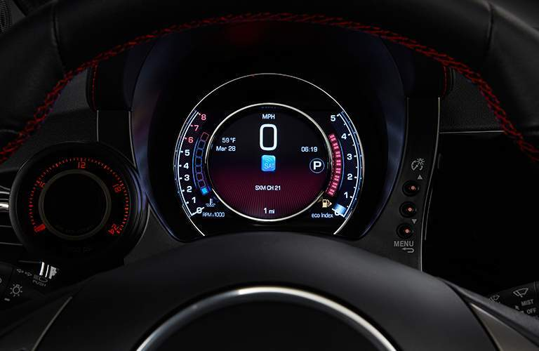 2017 Fiat 500 Abarth instrument panel