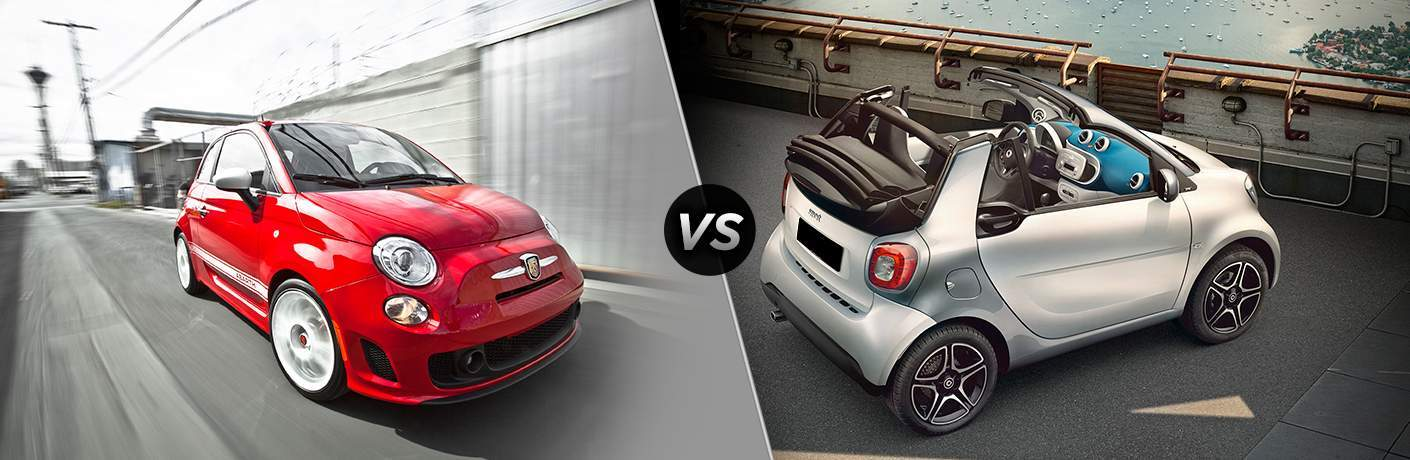 2017 Fiat 500 Abarth vs 2017 smart ForTwo Proxy