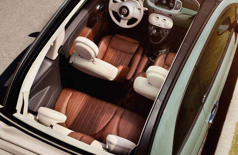 birds eye view of 2017 Fiat 500