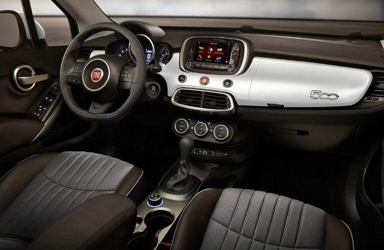 2017 Fiat 500X Silver interior Accents