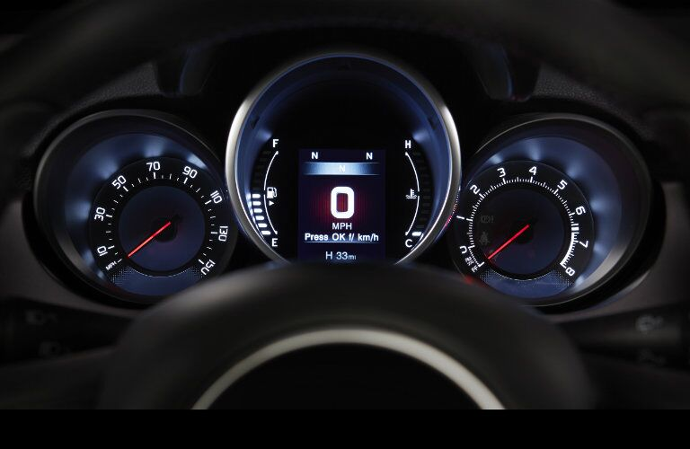 2017 Fiat 500X Dashboard information Center