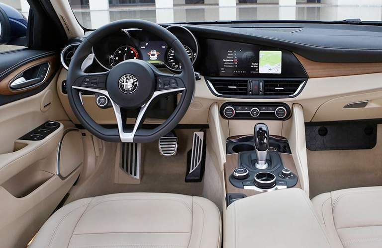cockpit and dashboard design in 2018 Alfa Romeo Giulia