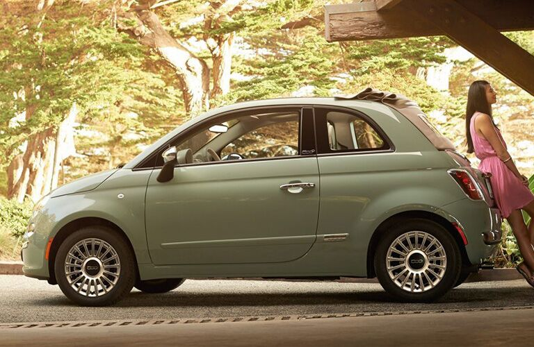 side exterior view of 2018 Fiat 500