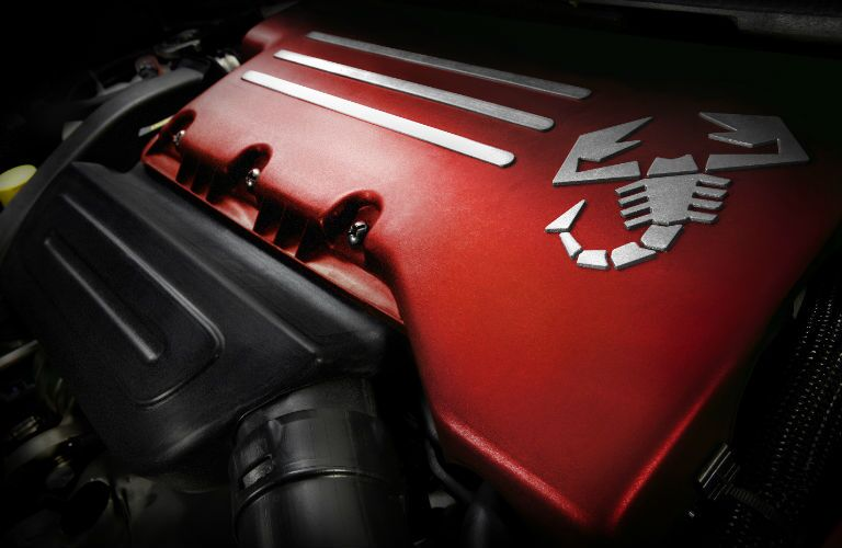 engine in 2018 Fiat 500 Abarth