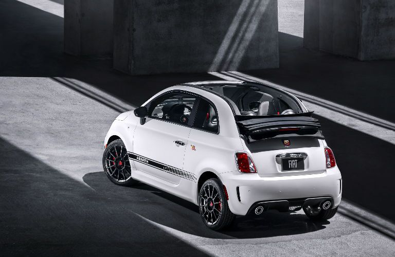 rear view of convertible top 2018 Fiat 500 Abarth