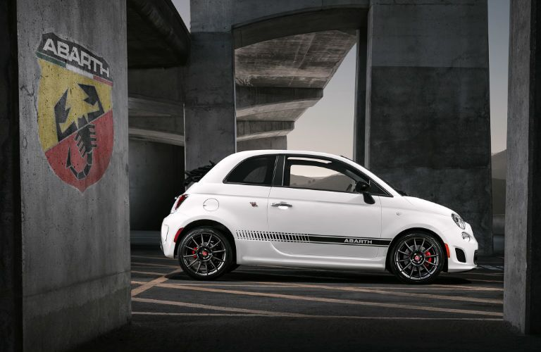 side profile view of 2018 Fiat 500 Abarth