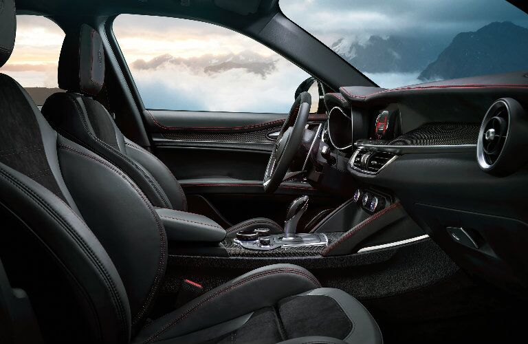 2018 Alfa Romeo Stelvio Black Leather Interior