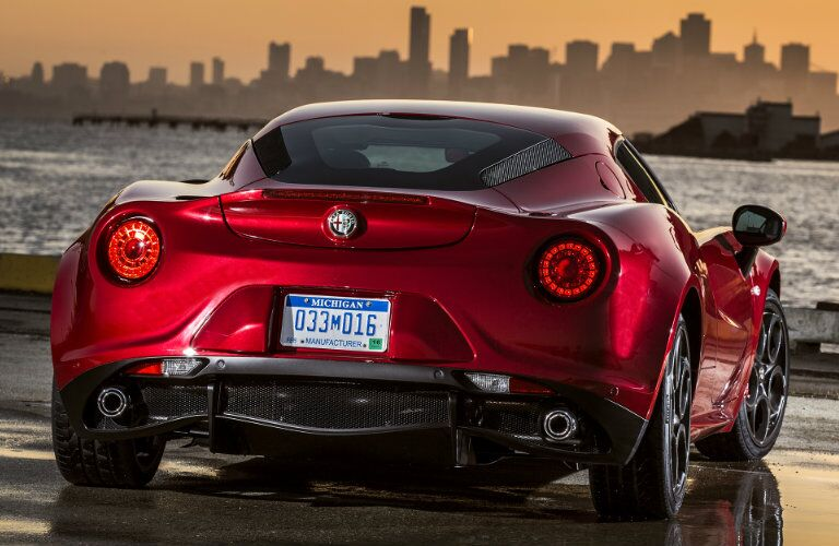 2017 Alfa Romeo 4C Coupe Taillight Design