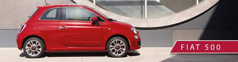 Red 2017 Fiat 500