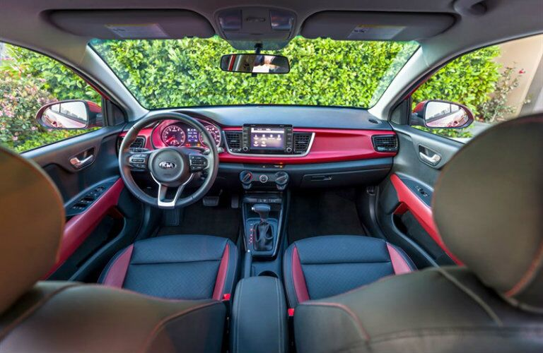 2018 Kia Rio Red Interior Accents