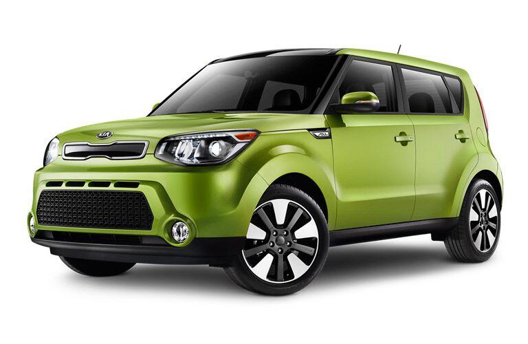 green 2015 Kia Soul