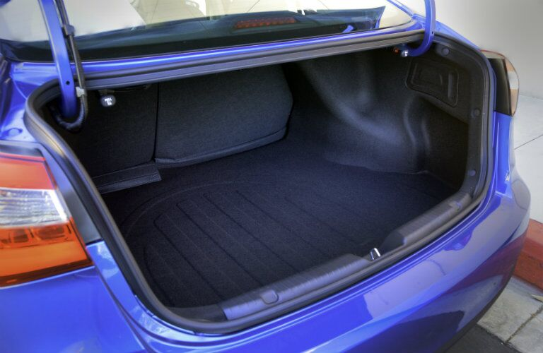 2016 Kia Forte trunk cargo space