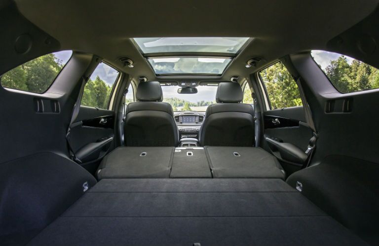 2016 Kia Sorento Rear Storage Space Folded Seats