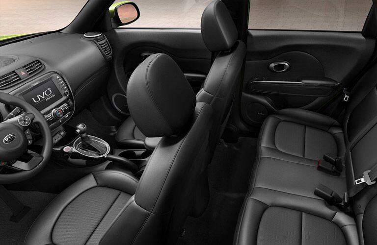 2016 Kia Soul black leather interior
