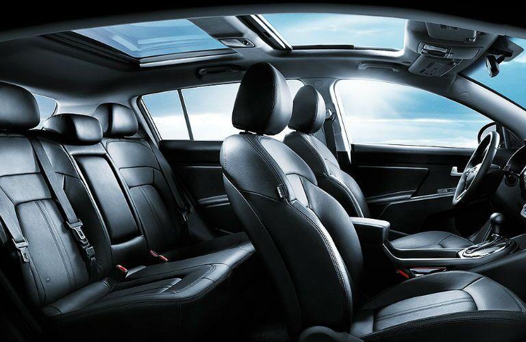 Black leather seats 2016 Kia Sportage