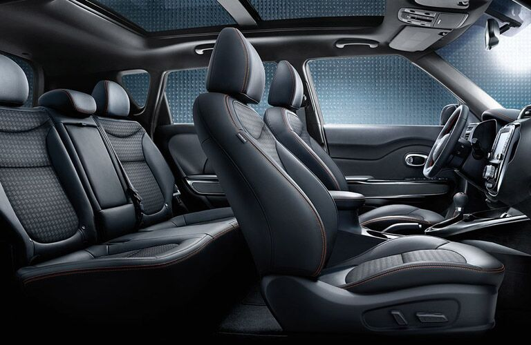 2017 Kia Soul Black leather Interior