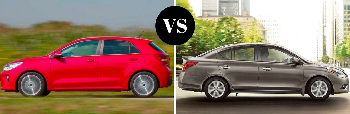 2017 Kia Rio vs 2017 Nissan Versa