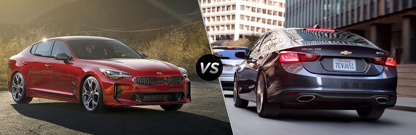 2018 Kia Stinger vs 2018 Chevy Malibu