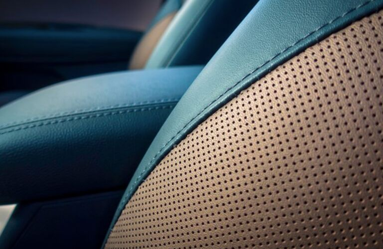 close up of leather seating in 2019 Kia Optima