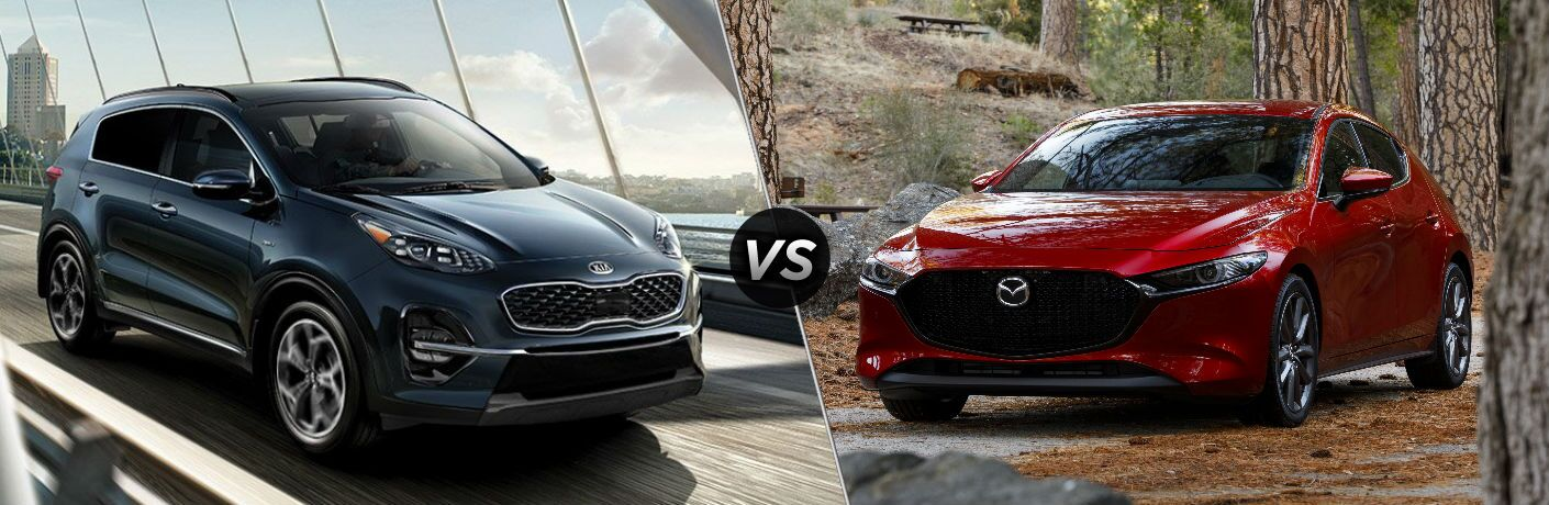 2020 Kia Sportage vs 2019 Mazda3 Hatchback