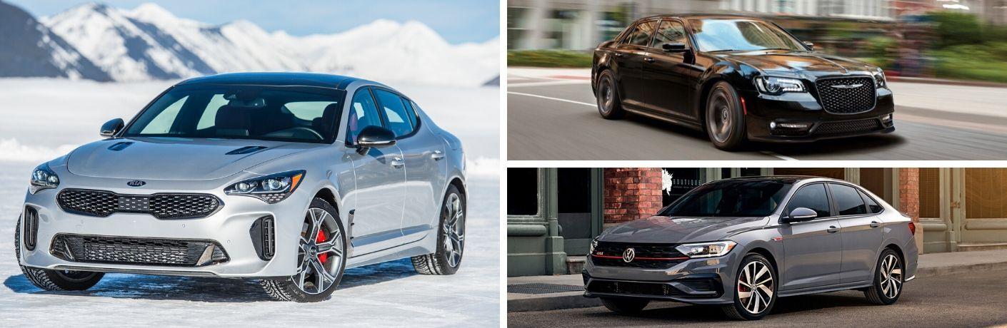 2020 Kia Stinger vs 2020 Chrysler 300 vs 2020 Volkswagen Jetta GLI