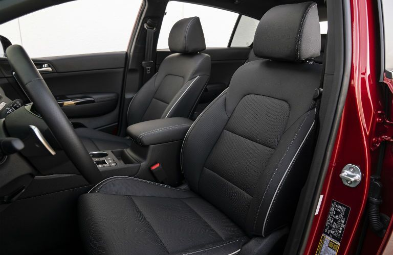 A photo of the front seats in the 2021 Kia Sportage.
