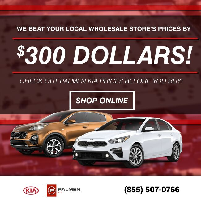 Palmen Kia Palmen Goal Costco and Auto Wholesale Price Match Promise header