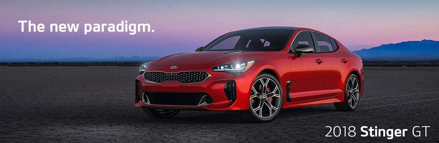 Red 2018 Kia Stinger