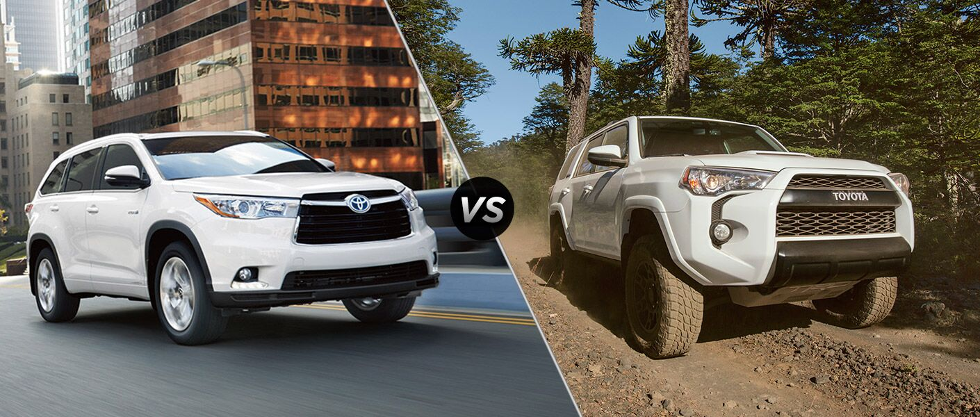 2016 Toyota Highlander vs. Toyota 4Runner comparison
