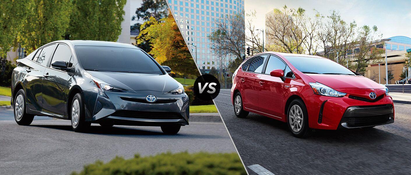 2016 Toyota Prius vs. 2016 Toyota Prius v models