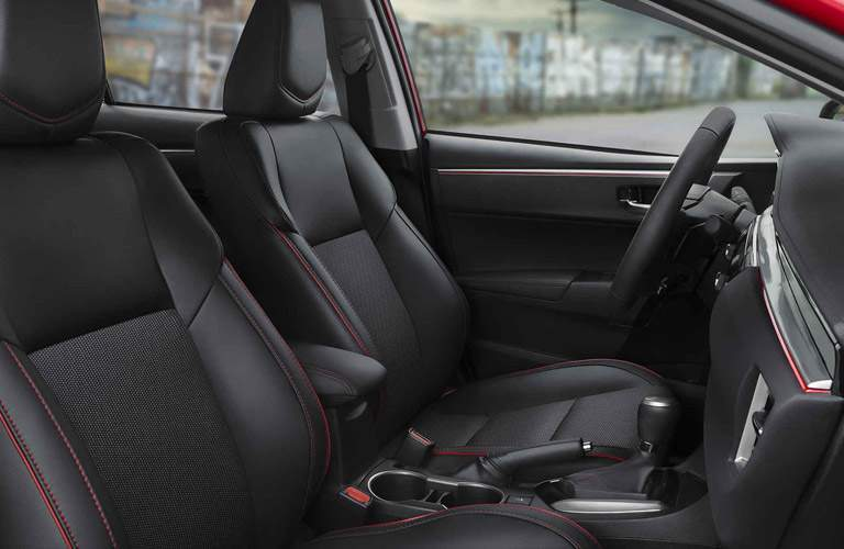 2017 toyota corolla seats with red stitching