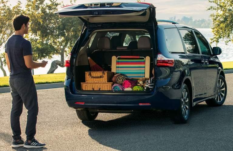 2018 Toyota Sienna Exterior Rear Passenger Side Cargo Hold Open